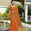 Thumbnail: Heavy Designer Saree In Orange Blue Color with Art Silk Fabricated