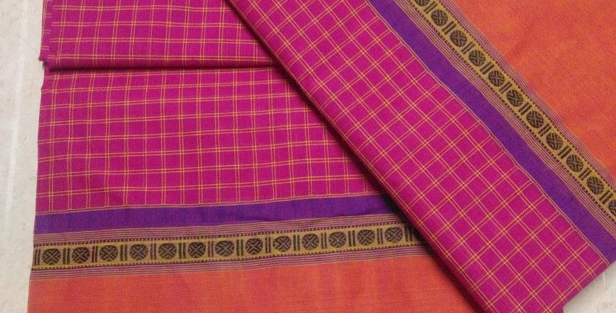 Pink Korvai cotton Sarees