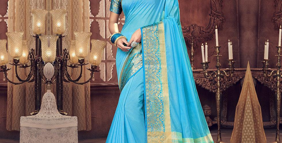 Blue Color Art Silk Saree