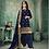 Thumbnail: New stylish Navy Blue heavy Patiyala Suit Collection with Gota Patti work