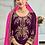 Thumbnail: Phillauri Patiyala Blooming Georgette Salwar Kameez Purple Color