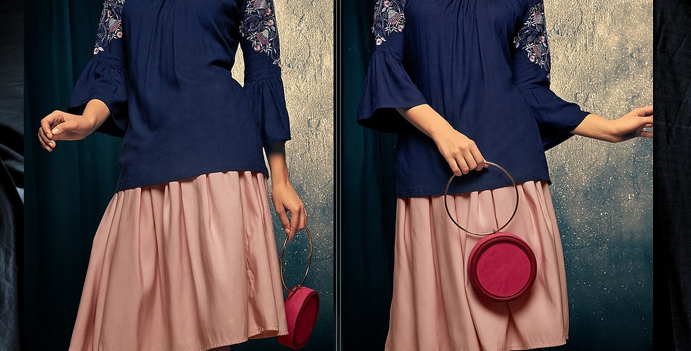 Readymade Kurtis (Fancy Top) In Navy Blue Color