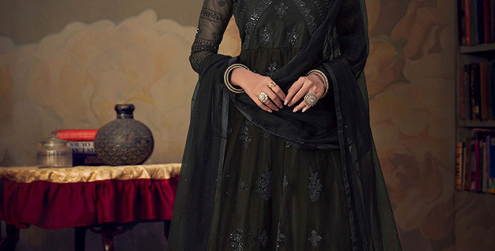 Grab This Very Beautiful Heavy Designer Black Color Sharara Suit