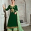 Thumbnail: Phillauri Patiyala Blooming Georgette Salwar Kameez Green Color