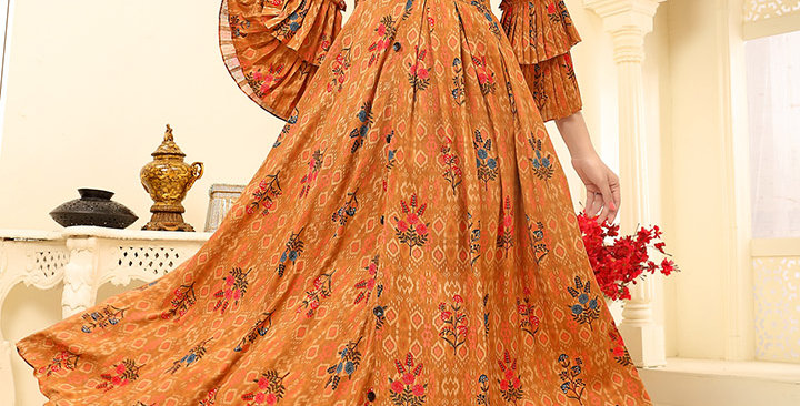 Festive Season Wearing This Designer Mustard Yellow Color Readymade Gown
