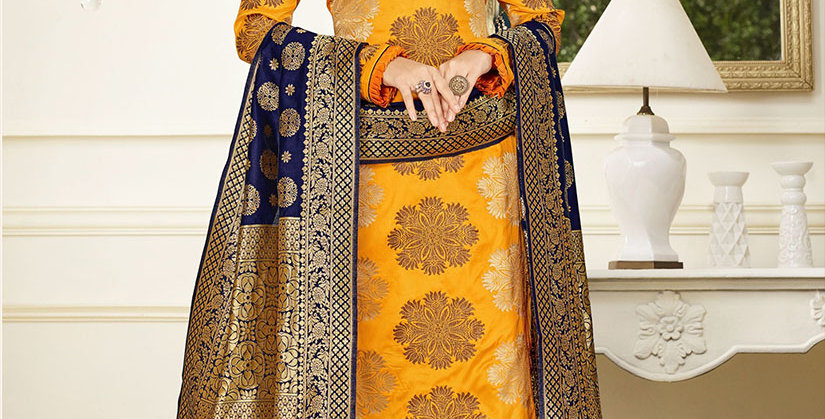 Hera is A  Pretty Designer Mustard Yellow Color  Straight Salwar Suit
