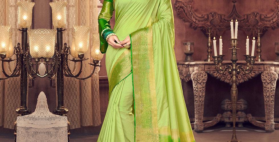 Green Color Art Silk Saree