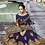 Thumbnail: Heavy Designer Saree In Navy Blue Color with Art Silk Fabricated