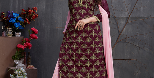 Phillauri Patiyala Salwar Kameez Ready to Ship Dark Wine Color