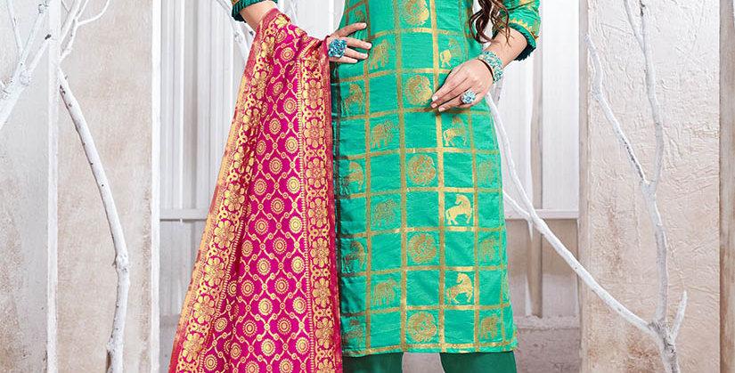 Hera is A  Pretty Designer Sea Green Color  Straight Salwar Suit