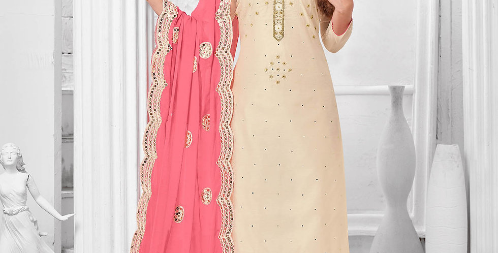 Here Is A Pretty Designer  Pink Color Straight Salwar Suit