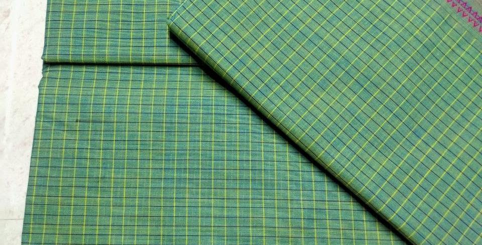 Green Korvai cotton Sarees
