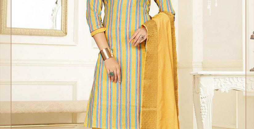 Hera is A  Pretty Designer Grey and Yellow Color  Straight Salwar Suit