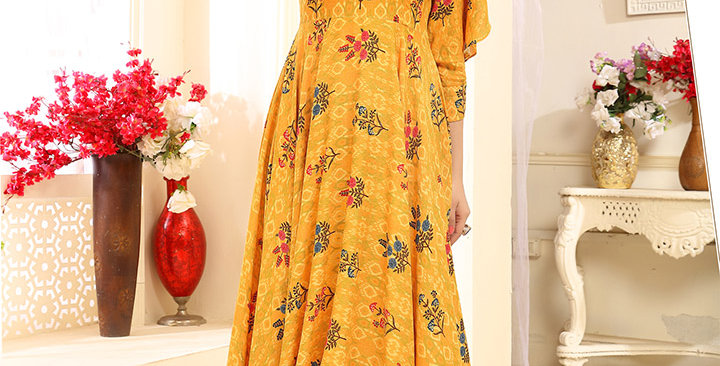 Festive Season Wearing This Designer Yellow Color Readymade Gown