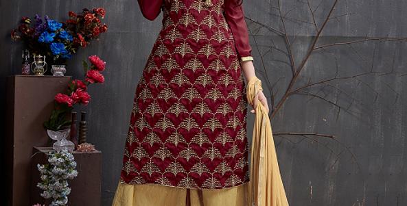 Phillauri Patiyala Salwar Kameez Ready to Ship Red Color