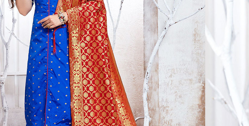 Hera is A  Pretty Designer Royal Blue Color  Straight Salwar Suit