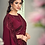 Thumbnail: Uniqe Style Maroon Color Art Silk Saree with Fabric Lycra