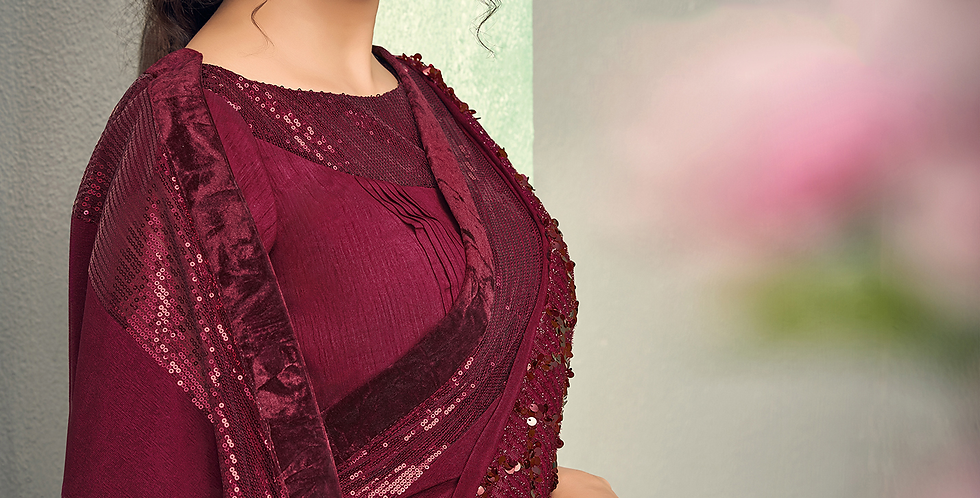 Uniqe Style Maroon Color Art Silk Saree with Fabric Lycra
