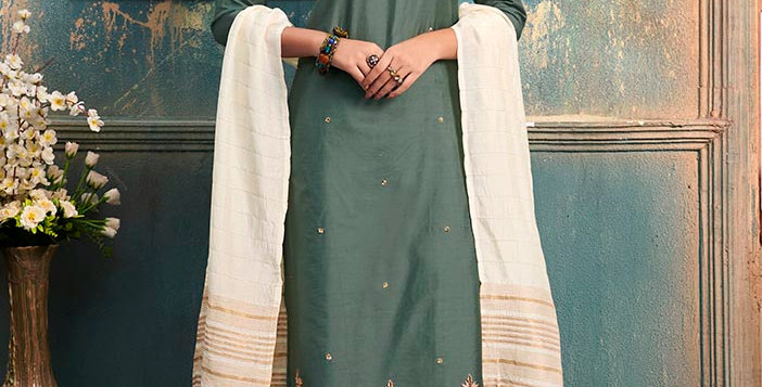Pretty Style Designer Readymade one Piece Tunic & Kurti, Teal Green
