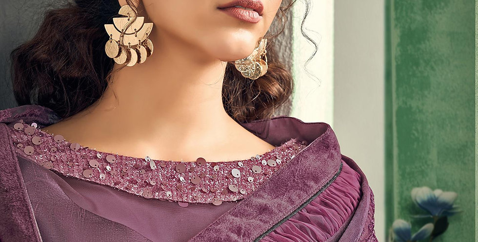 Uniqe Style Mauve Color Art Silk Saree with Fabric Lycra