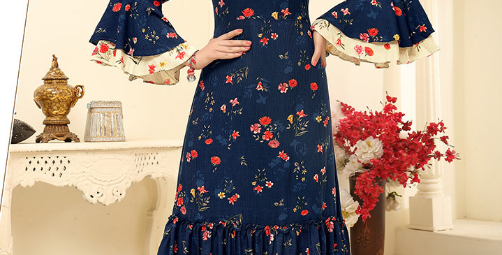 Festive Season Wearing This Designer Navy Blue Color Readymade Gown