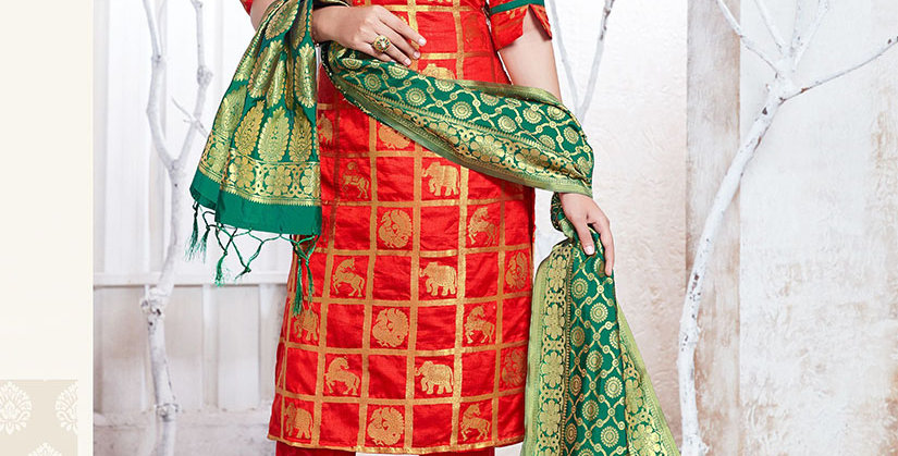 Hera is A  Pretty Designer Red Color  Straight Salwar Suit