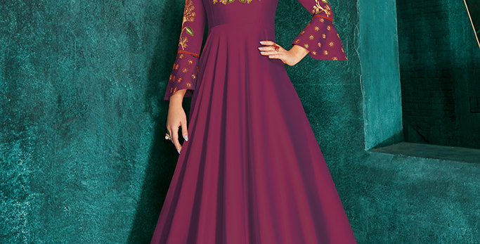 Festive Season Wearing This Designer Magenta Pink Color Readymade Gown