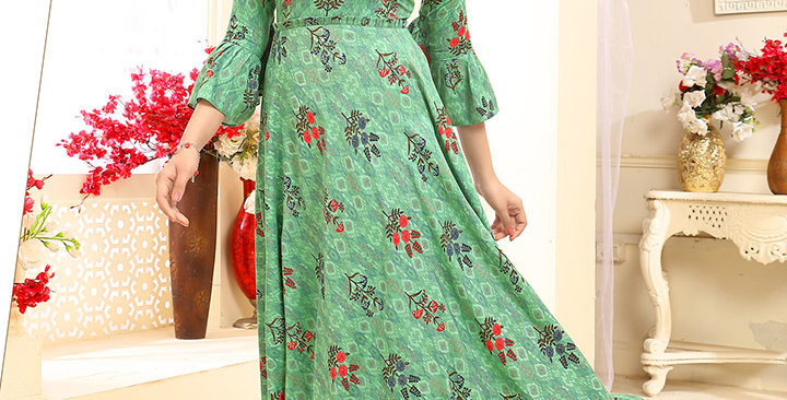 Festive Season Wearing This Designer Sea Green Color Readymade Gown