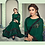 Thumbnail: Uniqe Style Dark Green Color Art Silk Saree with Fabric Lycra