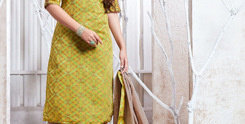 Hera is A  Pretty Designer Light Green and Beige Color  Straight Salwar Suit