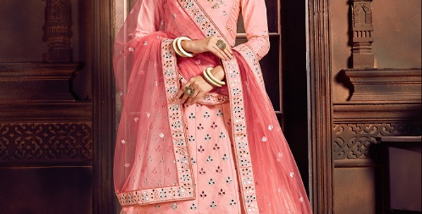 Pink Color Zikkra Lehenga Choli