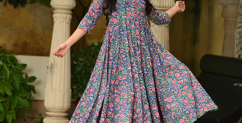 PartyWear Designer Blue and Pink Pure Maslin Plazzo Suit