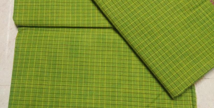 Light Green Korvai cotton Sarees