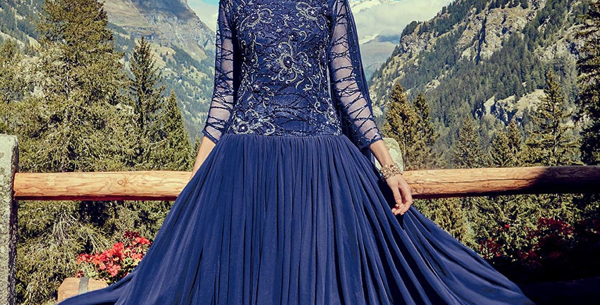 Festive Season Wearing This Designer Royal Blue Color Readymade Gown