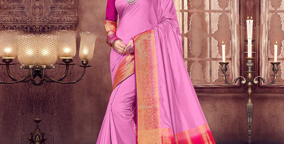 Pink Color Art Silk Saree