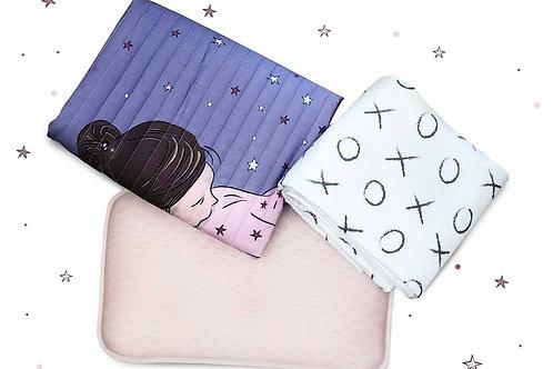 סט מיה: ברולי, שמיכה וכרית