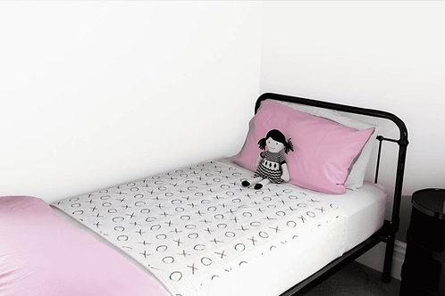 מגן מזרון למיטת יחיד - ברוֹלִי עם כנפיים מאוייר