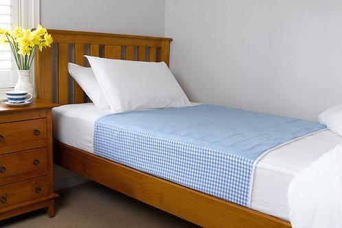 מגן מזרון למיטת יחיד צבע תכלת - ברולי עם כנפיים