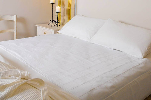 מגן מזרון ברולי למיטה זוגית - צבע לבן