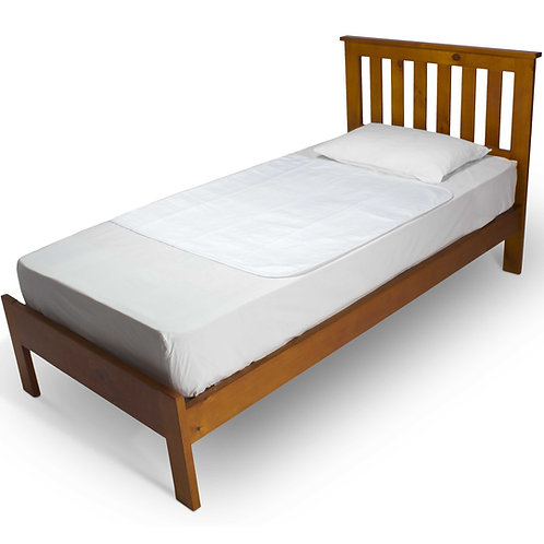 מגן מזרון למיטת יחיד בצבע לבן