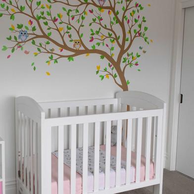 ברולי למיטת תינוק מאוייר: חיבוקים ונשיקות