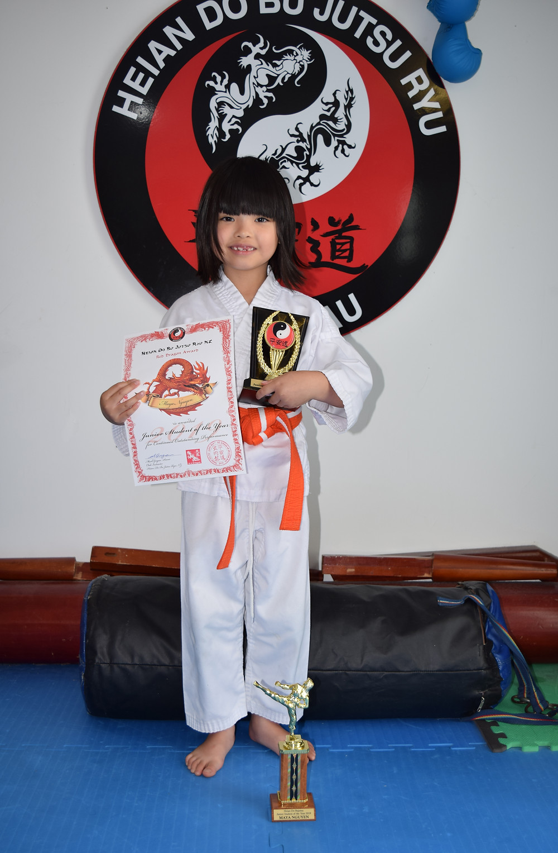 Maya won Student of the Year for kids 5-11 yo