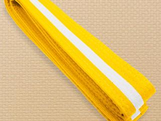 Xavier Leota gets his yellow belt