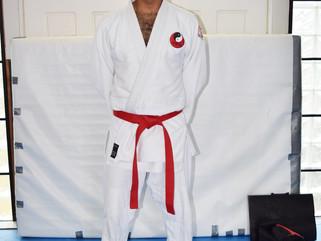 Jaynesh Patel grades to red belt in Bujutsu