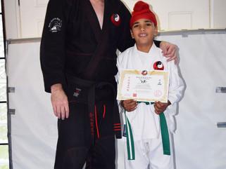 Samar Singh grades to green belt