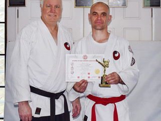 Lyndon Moore is student of the year 2017 and also grades to red belt under ASDANZ