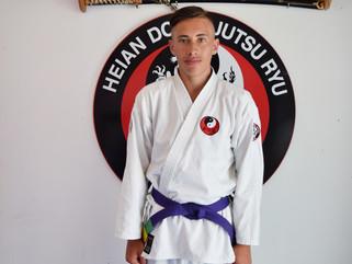 Trae-James Little grades to Purple belt in Te Jutsu