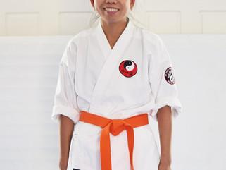 Arlene grades to Orange belt