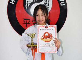 Ivy Nguyen Junior student of the year 2018