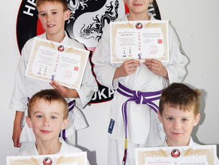Johnson family grade to purple belt